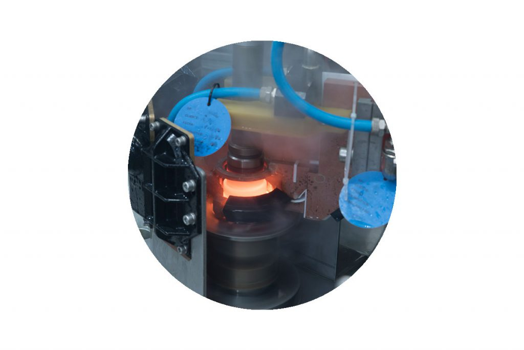 GH Induction hardening of automotive hub & spindle part.